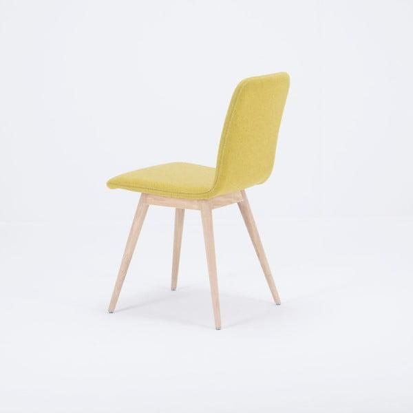 Żółte krzesło dębowe Gazzda Ena