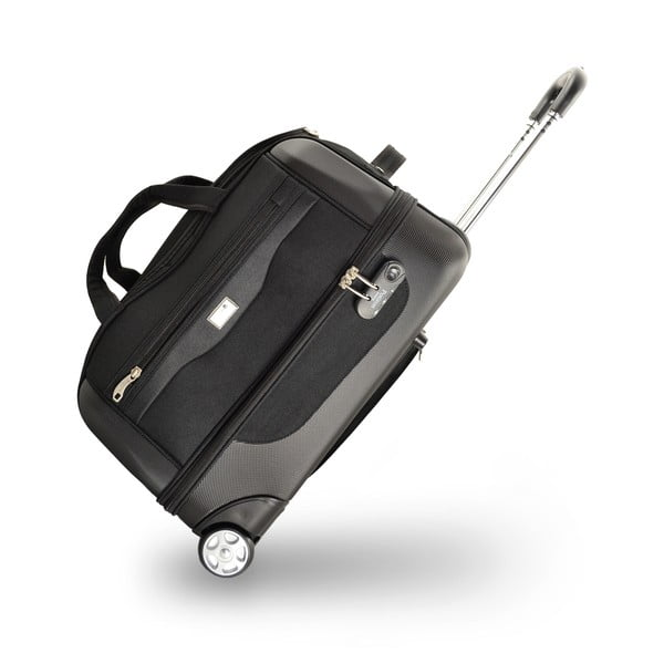Komplet 2 toreb podróżnych na kółkach Roulettes Black