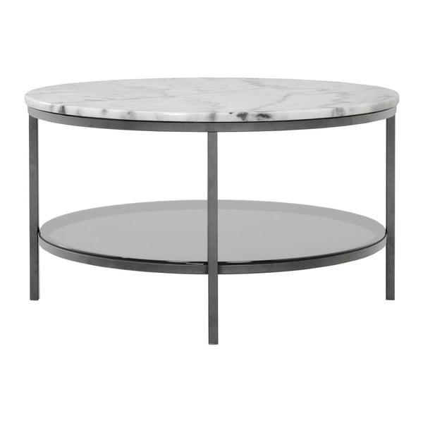Marmurowy stolik z szarą konstrukcją RGE Ascot, ⌀85cm