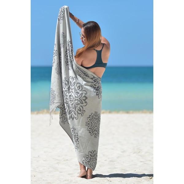 Szary ręcznik hammam Fauna