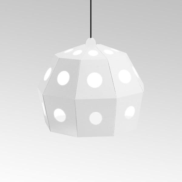 Kartonowa lampa Uno Fantasia B White, z czarnym kablem