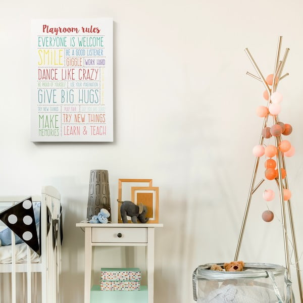 Obraz na płótnie Playroom Rules, 40x60 cm