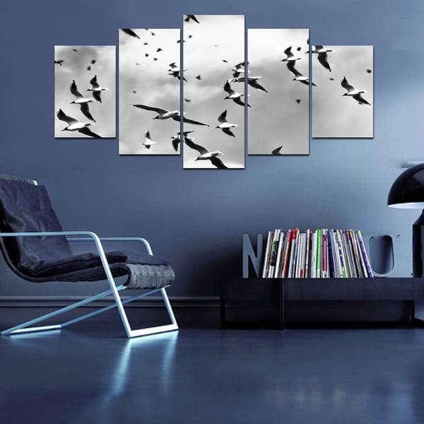 Wieloczęściowy obraz Black&White no. 51, 100x50 cm