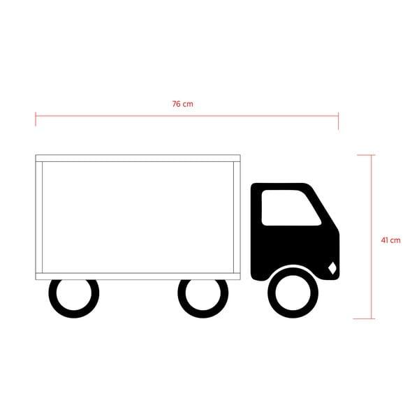 Półka z naklejką Truck White