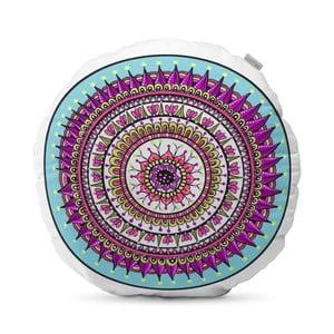Fioletowa poduszka HF Living Mandala, ⌀50cm