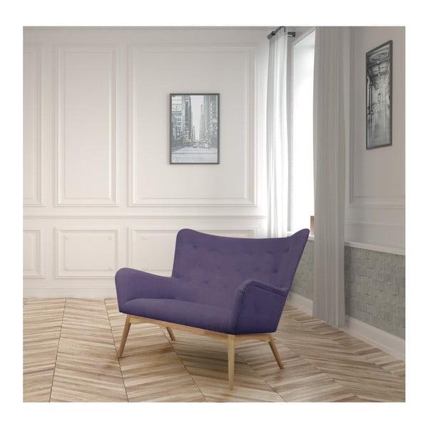 Fioletowa sofa 2-osobowa Helga Interiors Karl