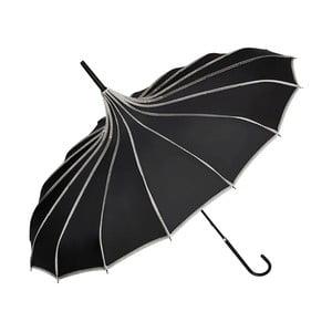 Czarny parasol Von Lilienfeld Pagoda Justine, ø 90 cm