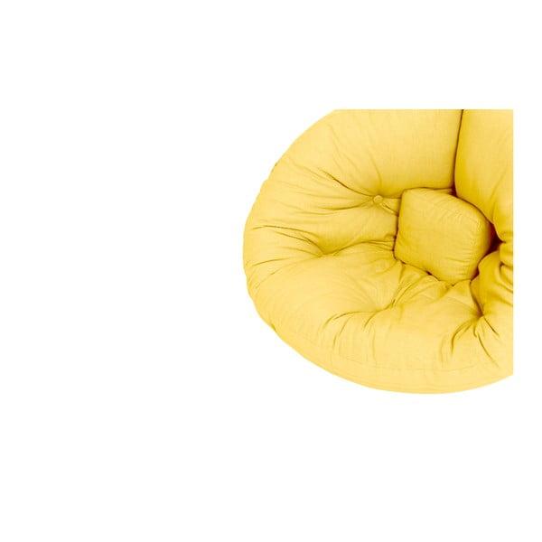Żółty dziecięcy fotel rozkładany Karup Design Mini Nido Yellow