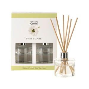 Zestaw 2 dyfuzorów zapachowych Copenhagen Candles White Flowers, 40 ml