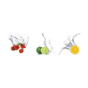 Samoprzylepne obrazy Splashing Fruits, 30x30 cm