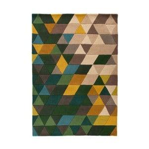 Zielony dywan wełniany Flair Rugs Prism, 160x220 cm