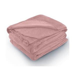 Růžová deka z mikrovlákna AmeliaHome Tyler, 150 x 200 cm