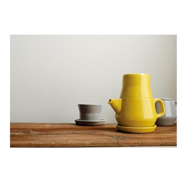 Zestaw na herbatę Couleur, żółty