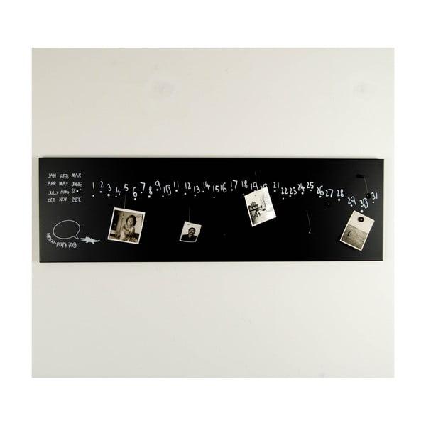 Magnetyczny kalendarz Krok Black, 100x30 cm