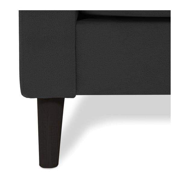 Antracytowa sofa 2-osobowa z czarnymi nogami Vivonita Tom