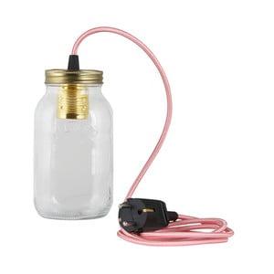 Lampa JamJar Lights, jasnoróżowy okrągły kabel