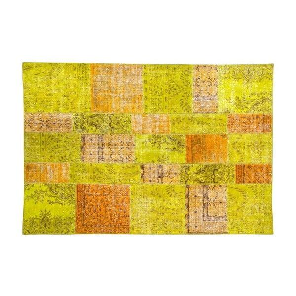 Dywan wełniany Allmode Green Or, 200x140 cm