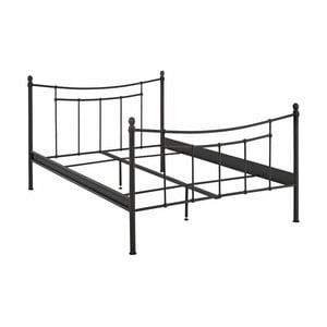 Czarna metalowa rama łóżka Støraa Victor