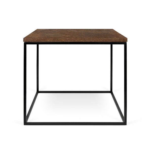 Brązowy stolik z czarnymi nogami TemaHome Gleam, 50 cm