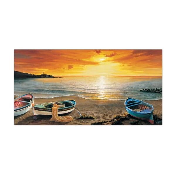Obraz Adriano Galasso - Al calar del sole, 100x50 cm