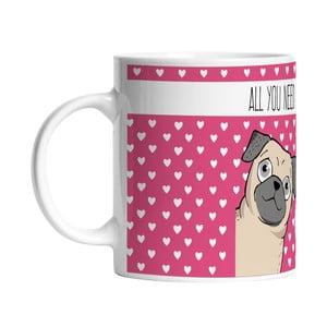 Ceramiczny kubek I Love My Dog, 330 ml