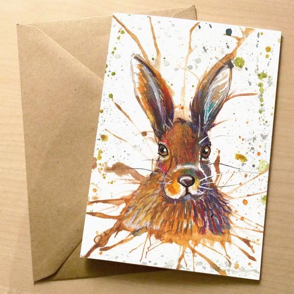 Kartka okolicznościowa Wraptious Splatter Hare