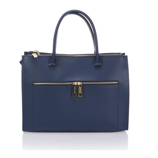 Skórzana torebka Krole Kate, niebieska