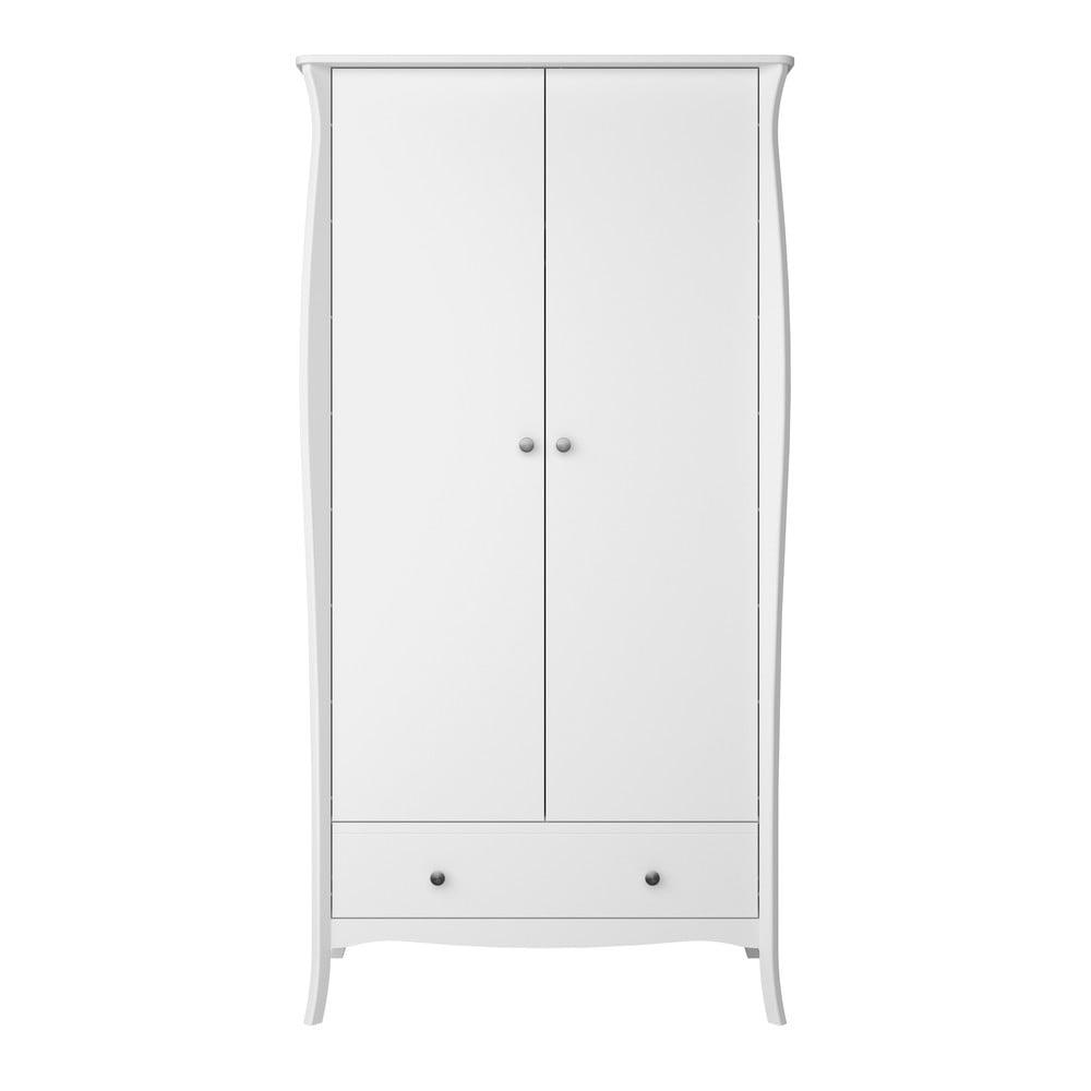 Biała szafa 2-drzwiowa Steens Baroque