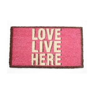 Wycieraczka Love, Live, Here, 40x70 cm