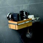 Pojemnik bambusowy z mydelniczką i z przyssawkami Compactor Spa