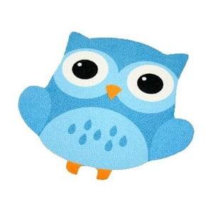 Dywan Owls - niebieska sowa, 66x66 cm