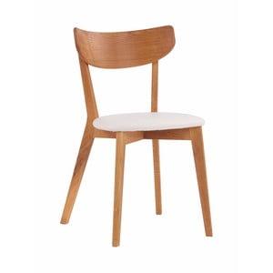 Krzesło dębowe z białym siedziskiem Folke Aegi
