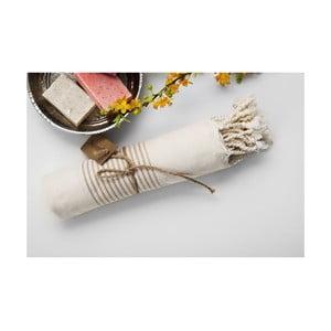 Ręcznik hammam Line Beige, 100x180 cm
