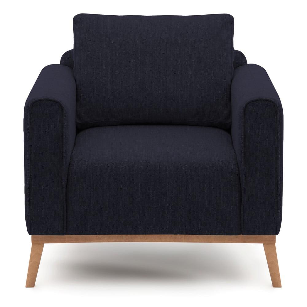Granatowy fotel VIVONITA Milton,