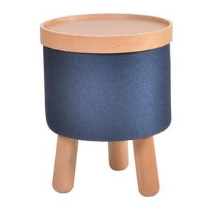 Niebieski stołek ze zdejmowanym blatem Garageeight Molde, ⌀35cm