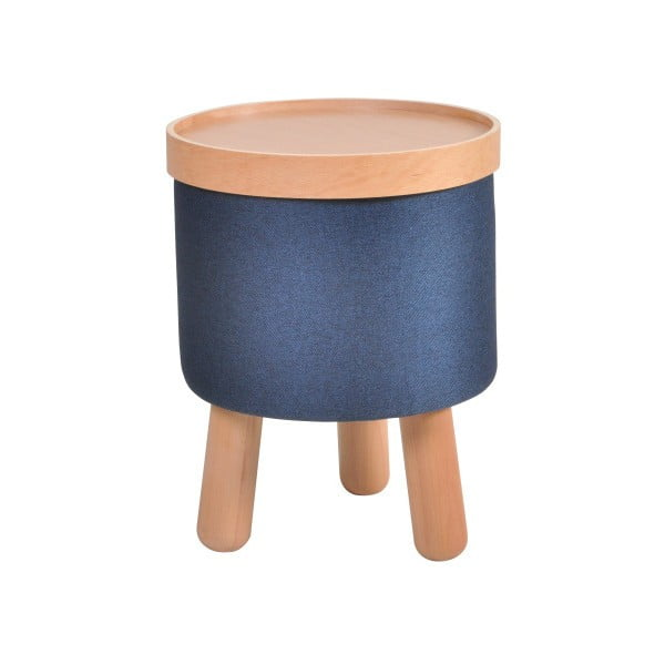 Niebieski stołek ze zdejmowanym blatem Garageeight Molde, ⌀ 35 cm