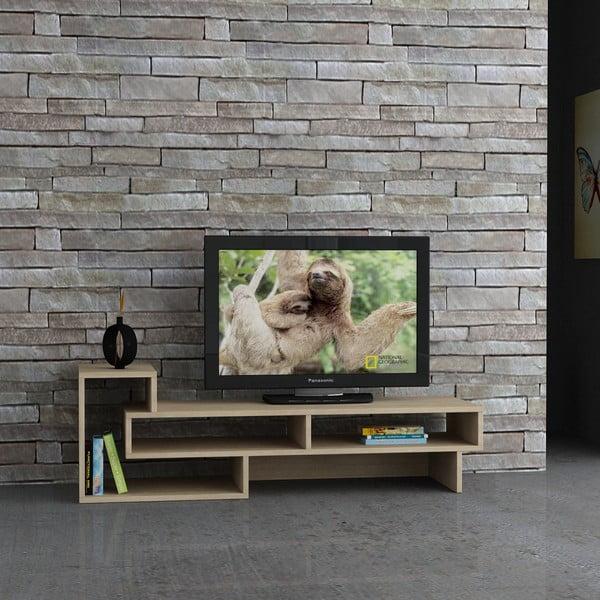 Stolik telewizyjny Tetra, biel/dąb