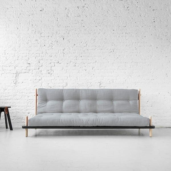 Sofa rozkładana Karup Point, Black/Raw Beech/Light Grey