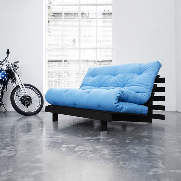 Sofa rozkładana Karup Roots Wenge/Horizon Blue