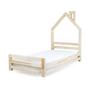 Łóżko dziecięce z naturalnego drewna sosnowego Benlemi Wally,120x200cm