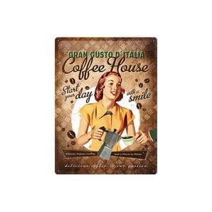 Blaszana tabliczka Coffee House, 30x40 cm
