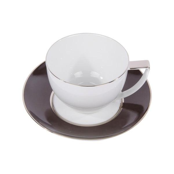 Komplet 6 filiżanek na herbatę, ze spodkiem, Ramponi Caffe Gray
