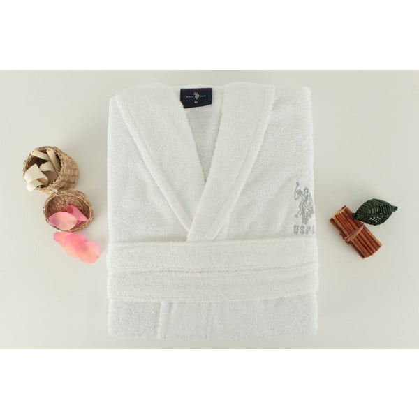 Szlafrok damski U.S. Polo Assn. Minot White, roz. XL