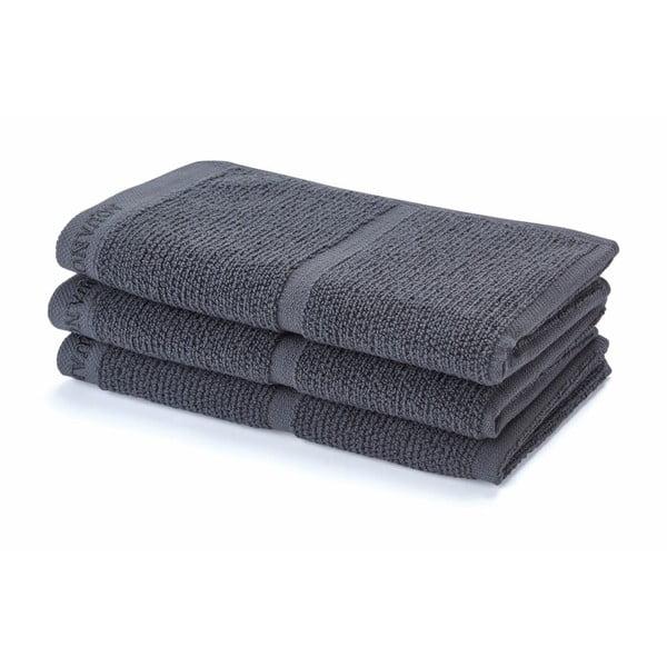 Ciemnoszary ręcznik Adagio, 30x50 cm