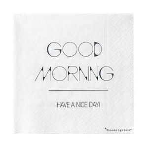 Zestaw 20 serwetek Bloomingville Good Morning, 25x25 cm