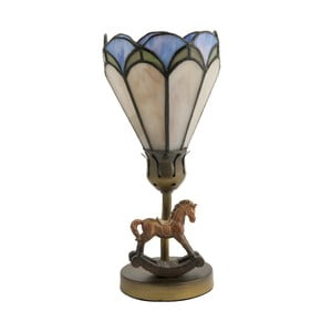 Lampa stołowa Tiffany Horse