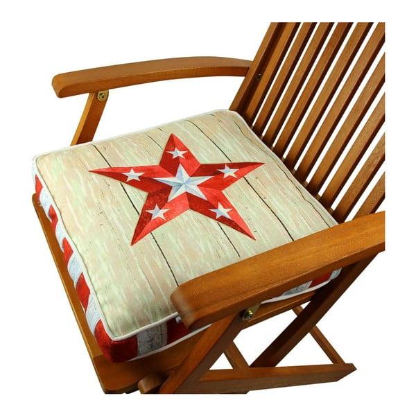 Poduszka na krzesło z wypełnieniem Spokane, 42x42 cm