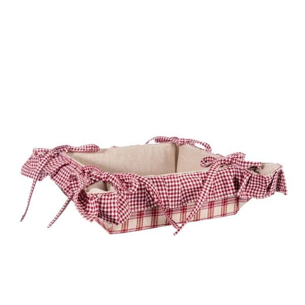 Koszyk na pieczywo Syrah, beżowy/czerwony