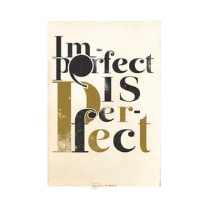 Plakat Imperfect is perfect, oliwkowy