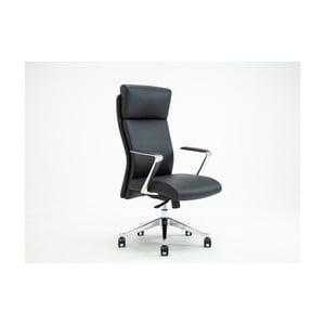 Czarne obrotowe krzesło biurowe RGE Elegant